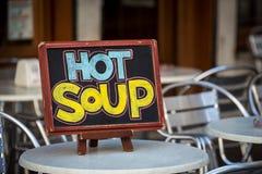 Hot soup sign Stock Photos
