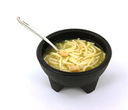 Hot Soup Spoon Stock Photo