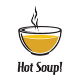 Hot soup. Vector illustration of the hot soup dish Royalty Free Stock Photos