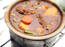 Hot sour curry. Thai food, hot and sour curry with fish royalty free stock photo