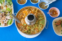 Hot and sour curry with tamarind sauce Royalty Free Stock Image
