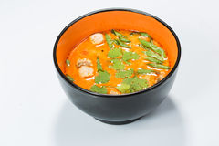 Hot and sour seafood soup,. Thai spicy soup Stock Photo