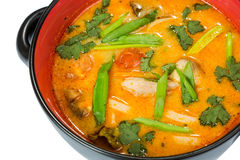 Hot and sour seafood soup,. Thai spicy soup Stock Image