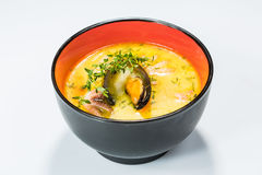 Hot and sour seafood soup,. Thai spicy soup Stock Photography