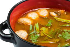 Hot and sour seafood soup, Stock Images