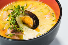 Hot and sour seafood soup,. Thai spicy soup Royalty Free Stock Photo