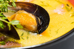 Hot and sour seafood soup,. Thai spicy soup Royalty Free Stock Photos