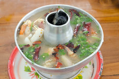 Hot and sour shrimp soup Royalty Free Stock Photos