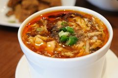 Hot and sour soup Royalty Free Stock Photos