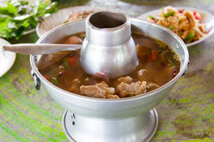 Hot and sour soup pork Stock Photography