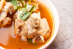 Hot and sour soup pork. Royalty Free Stock Photography