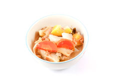 Hot and sour soup vegetables. Royalty Free Stock Images
