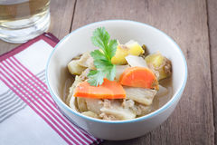 Hot and sour soup vegetables. Royalty Free Stock Image