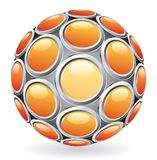 Hot sphere buttons Stock Images
