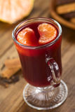 Hot Spiced Mulled Wine Royalty Free Stock Photo