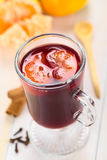 Hot Spiced Mulled Wine Stock Images