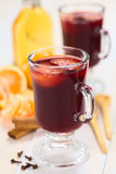 Hot Spiced Mulled Wine Royalty Free Stock Images