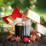 Hot spiced wine Royalty Free Stock Photo