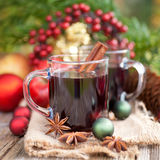 Hot spiced wine Royalty Free Stock Photos