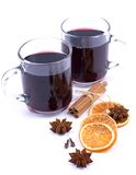 Hot spiced wine Stock Images