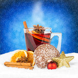 Hot spiced wine Stock Photos