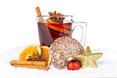 Hot spiced wine Stock Photography