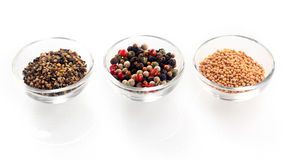 Hot Spices Ingredients on Glass Bowl Royalty Free Stock Photography