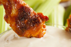 Hot and Spicey Buffalo Chicken Wings stock images