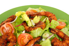 Hot Spicy BBQ Prawn Salad Royalty Free Stock Photo