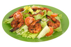 Hot Spicy BBQ Prawn Salad Stock Photography