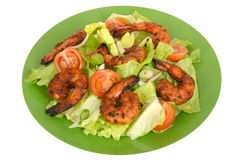 Hot Spicy BBQ Prawn Salad Royalty Free Stock Photography