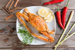 Hot and spicy blue crab Royalty Free Stock Photo