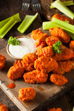 Hot and Spicy Boneless Buffalo Chicken Wings. With Ranch Royalty Free Stock Image