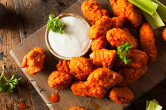 Hot and Spicy Boneless Buffalo Chicken Wings. With Ranch Royalty Free Stock Photos