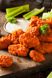 Hot and Spicy Boneless Buffalo Chicken Wings Stock Images