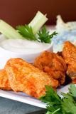 Hot and Spicy Buffalla Wings Stock Photos