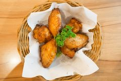 Hot and spicy chicken wings Royalty Free Stock Photography