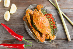 Hot and spicy curry blue crab Royalty Free Stock Image