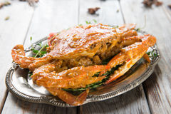 Hot and spicy curry crab Stock Photo