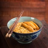 Hot and Spicy Curry Laksa Noodles Asian food Royalty Free Stock Photography