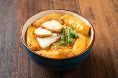 Hot Curry Laksa Noodles Asian food Stock Image