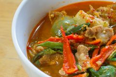 Hot Spicy curry with pork Royalty Free Stock Photo