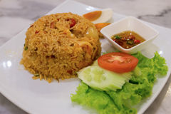 Hot and spicy fried rice. Thai food, hot and spicy fried rice Stock Image