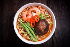 Hot and spicy instant noodle Royalty Free Stock Photo
