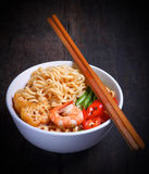 Hot and spicy instant noodle Stock Image