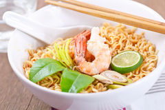 Hot and spicy instant noodle. Stock Images