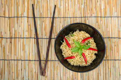 Hot and spicy instant noodle Royalty Free Stock Photos