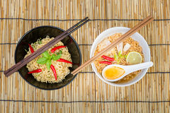 Hot and spicy instant noodle Stock Images