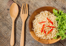 Hot and spicy instant noodle Royalty Free Stock Images
