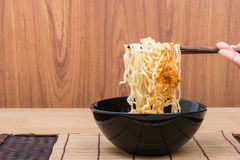 Hot and spicy lap instant noodle Stock Photography